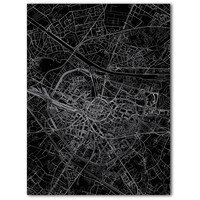 Stadtkarte Hasselt | Aluminium Wanddekoration