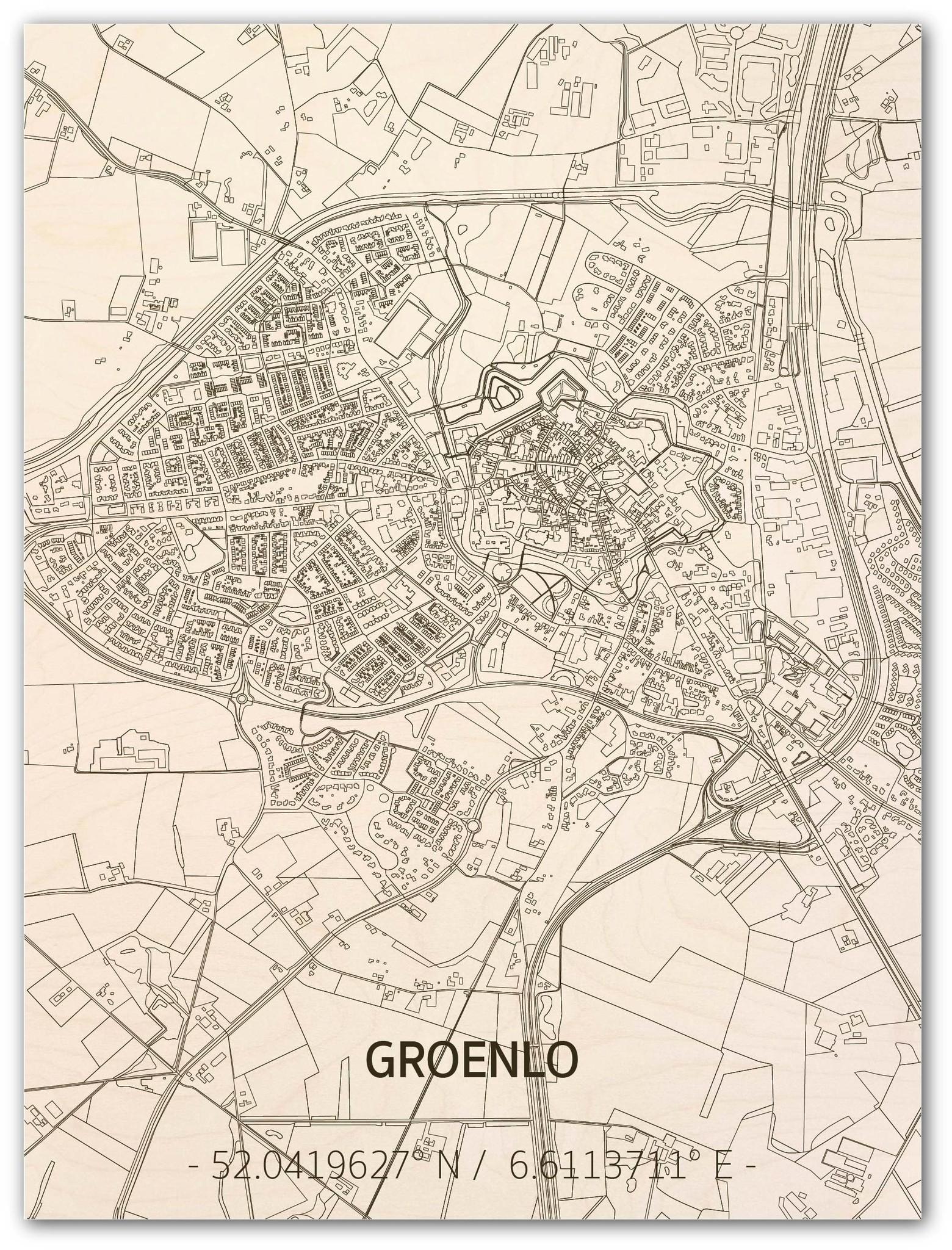 Citymap Groenlo | houten wanddecoratie-1