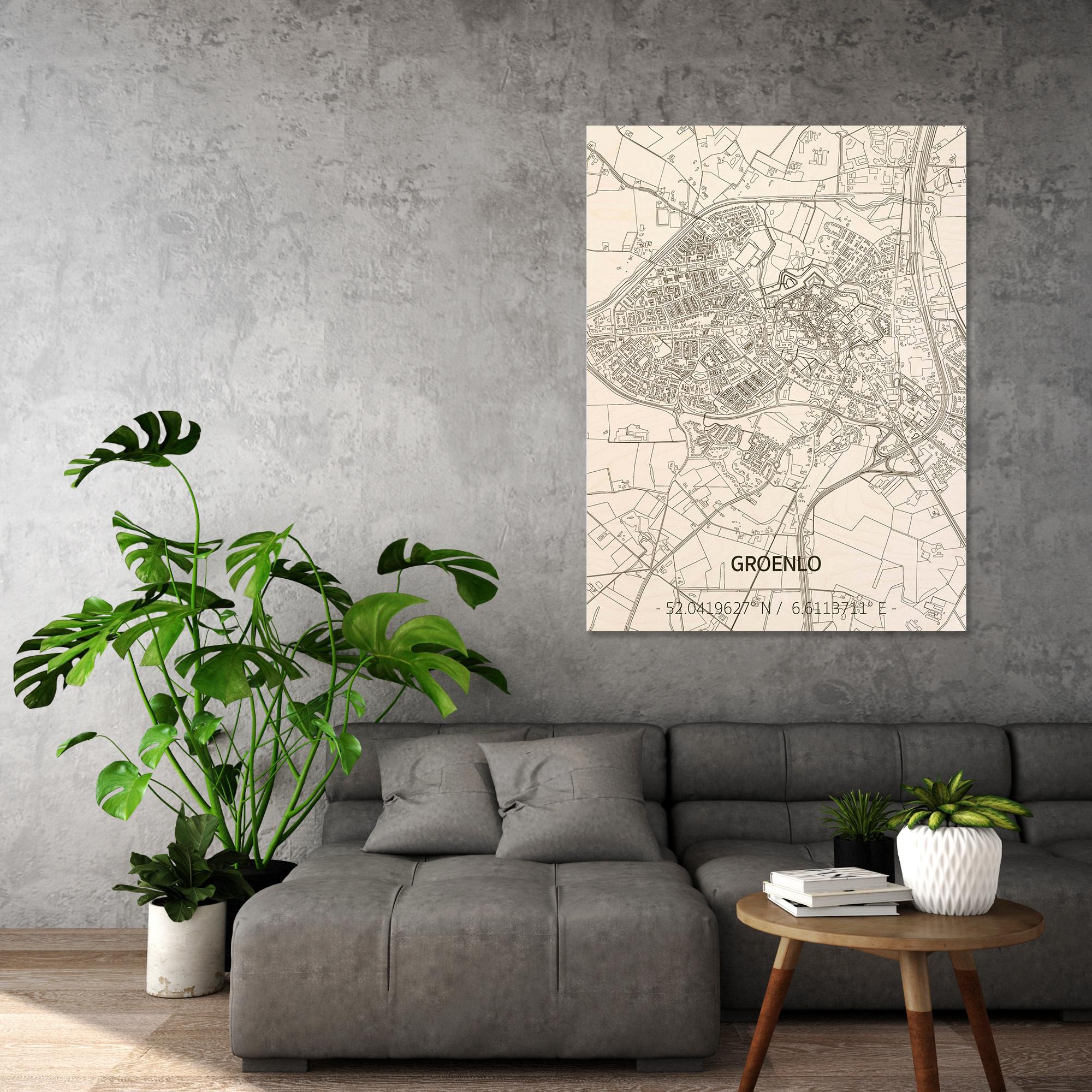Citymap Groenlo | houten wanddecoratie-2