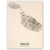 Citymap Malta | wooden wall decoration