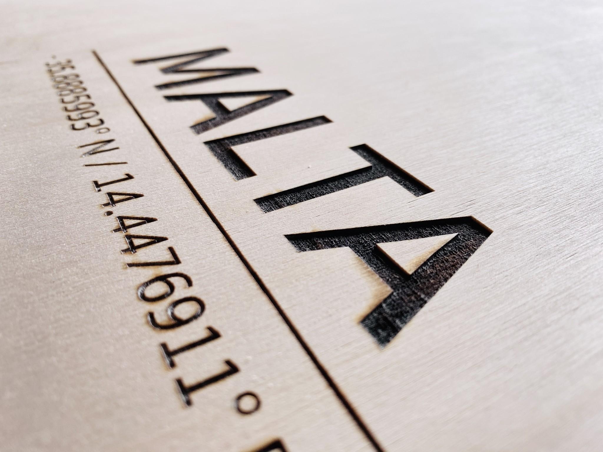 Stadtplan Malta | Wanddekoration Holz-4