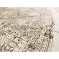 Citymap Budapest | houten wanddecoratie