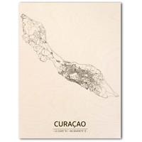 Citymap Curaçao | wooden wall decoration