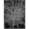 Stadtkarte Mailand | Aluminium Wanddekoration