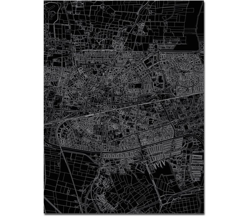 Citymap Leeuwarden | Aluminium Wanddekoration