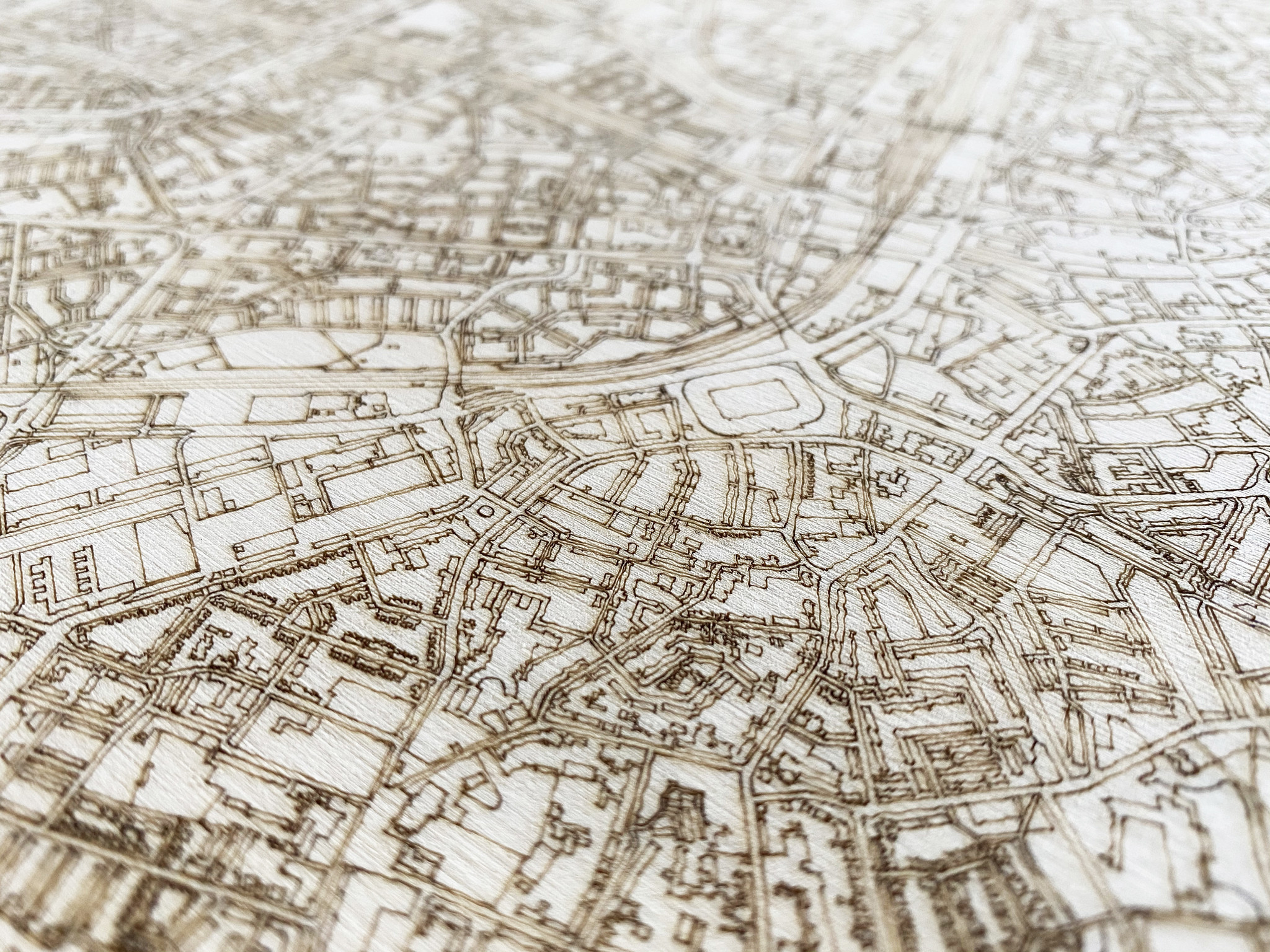 Stadtplan Overschie | Wanddekoration Holz-4