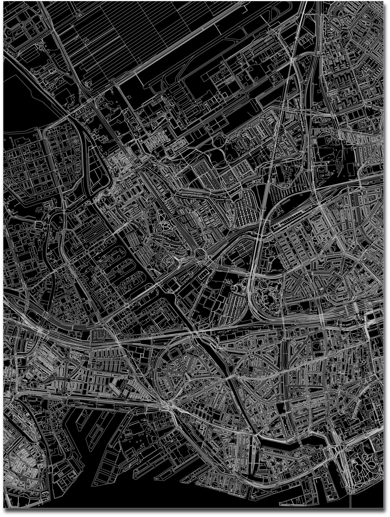 Stadtkarte Overschie | Aluminium Wanddekoration-3