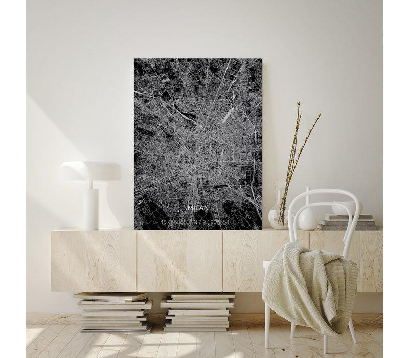 Citymap Milan | Aluminum wall decoration