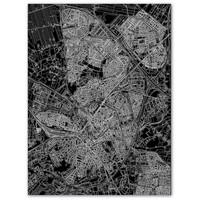 Stadtkarte Amersfoort | Aluminium Wanddekoration