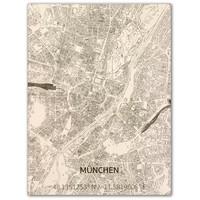 Citymap München | houten wanddecoratie