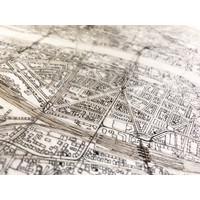 WOODEN WALL DECORATION FRANKFURT CITYMAP