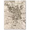 Stadtplan Gent | Wanddekoration Holz