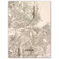 Citymap Genève | houten wanddecoratie