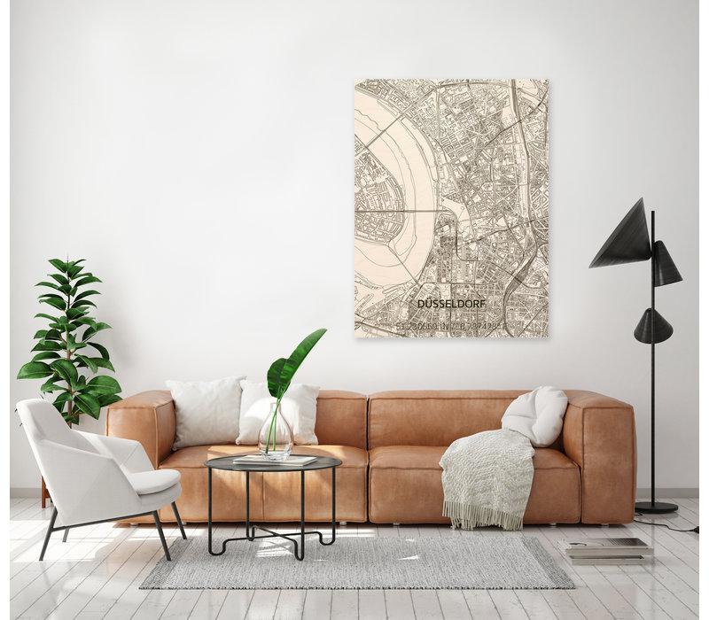 Citymap Düsseldorf | houten wanddecoratie