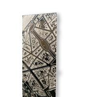 Citymap Boekarest | Aluminium wanddecoratie