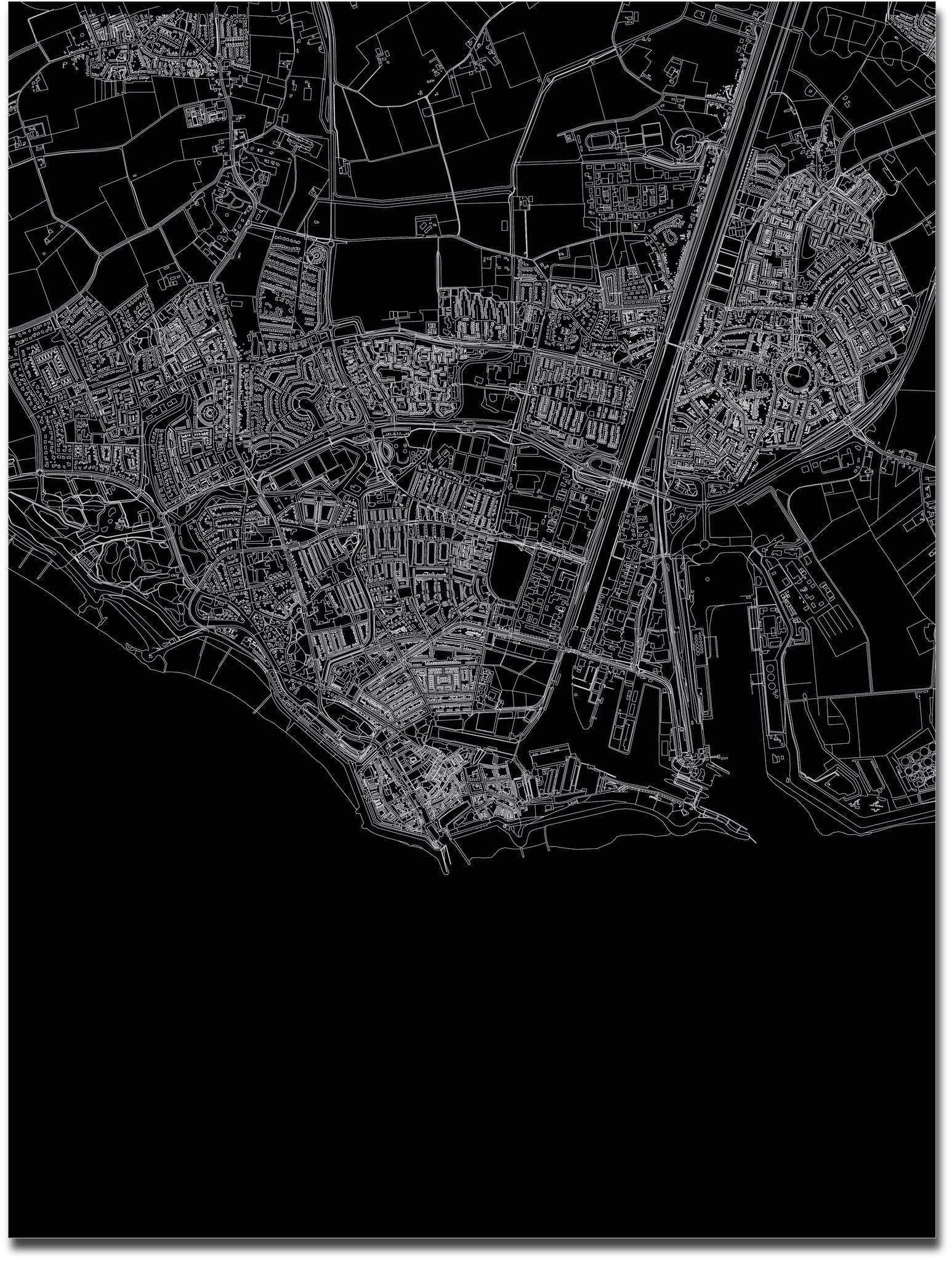Citymap Vlissingen | Aluminium wanddecoratie-3