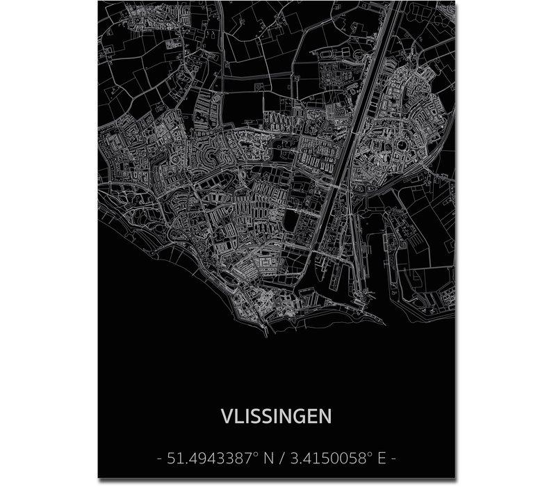 Citymap Vlissingen | Aluminium wanddecoratie