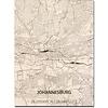 Citymap Johannesburg | wooden wall decoration