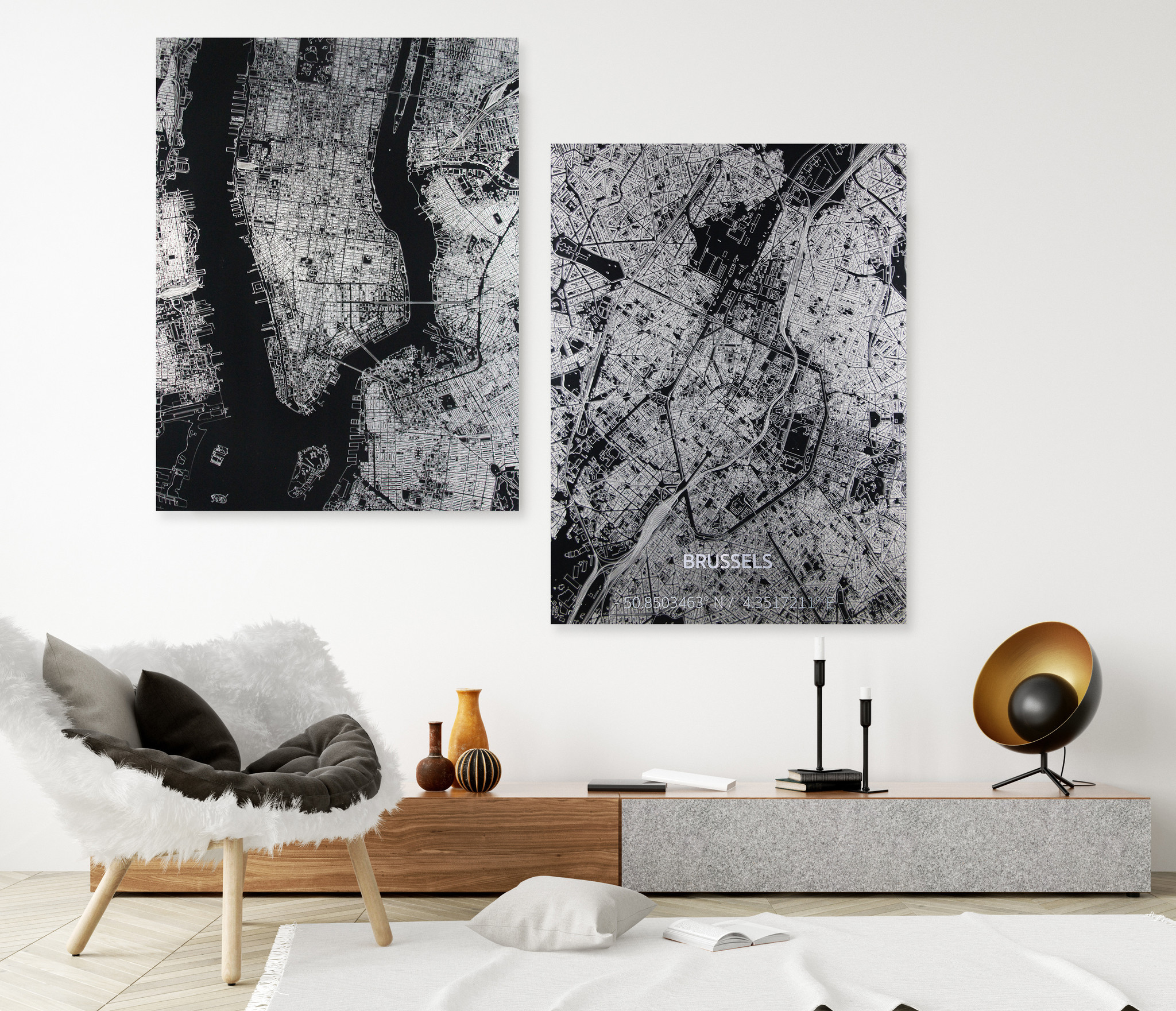 Citymap Johannesburg | Aluminium wanddecoratie-2