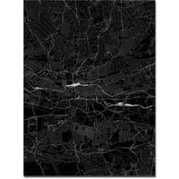 Stadtkarte Johannesburg   Aluminium Wanddekoration
