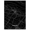 Stadtkarte Winssen | Aluminium Wanddekoration
