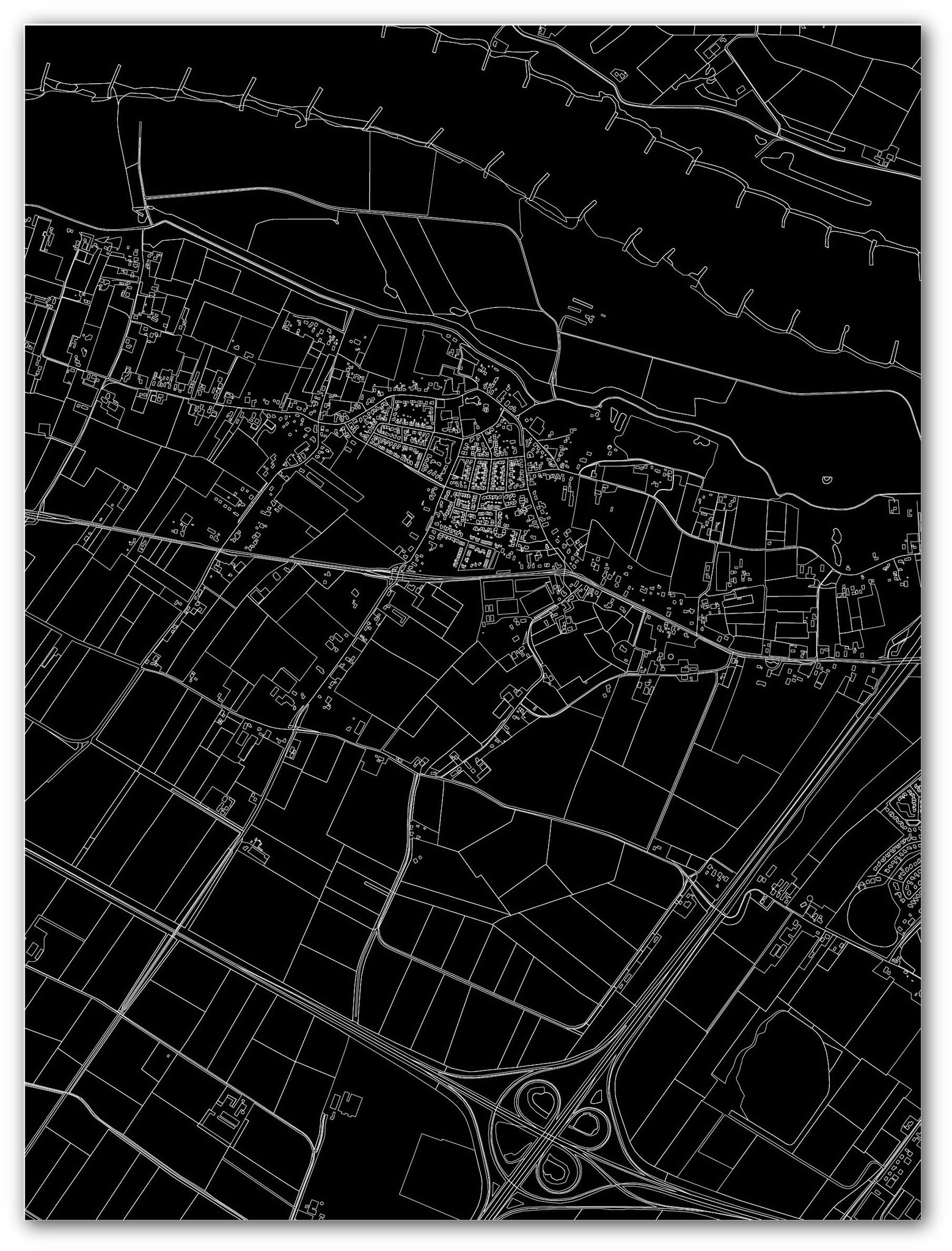 Citymap Winssen | Aluminium wanddecoratie-3