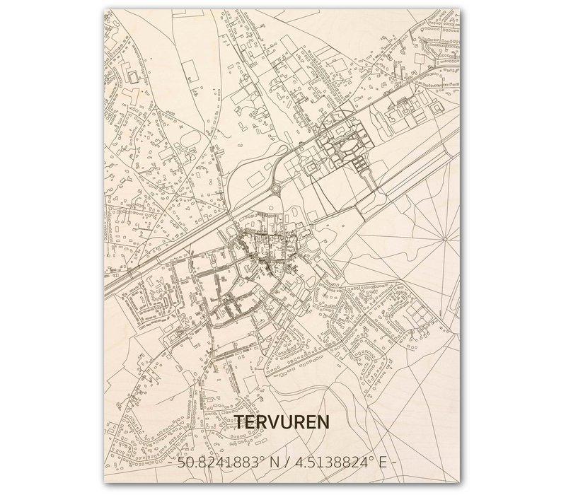 Citymap Tervuren | wooden wall decoration