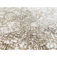 Stadtplan Santiago | Wanddekoration Holz