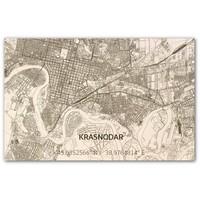 Citymap Krasnodar | houten wanddecoratie