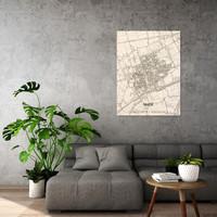 Stadtplan Made   Wanddekoration Holz