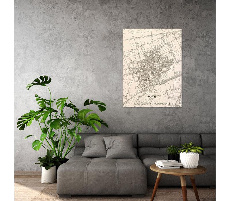 Citymap Made | houten wanddecoratie