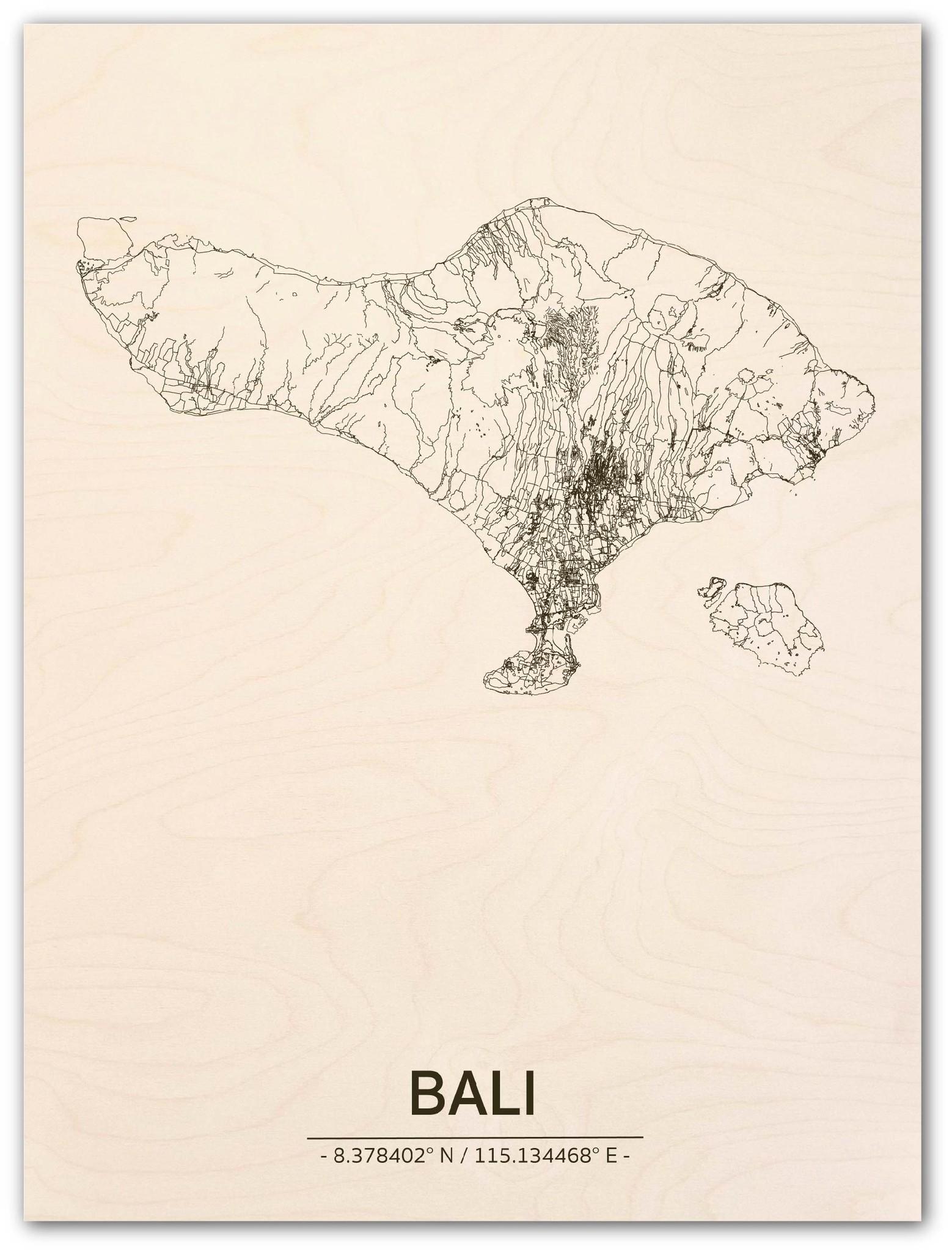 Citymap Bali | wooden wall decoration-1