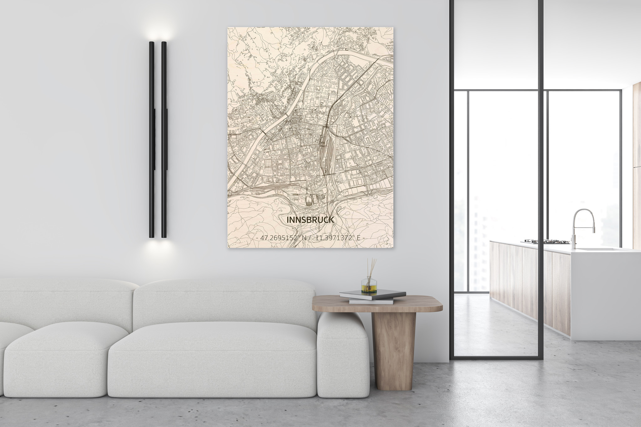 Citymap Innsbruck | houten wanddecoratie-2
