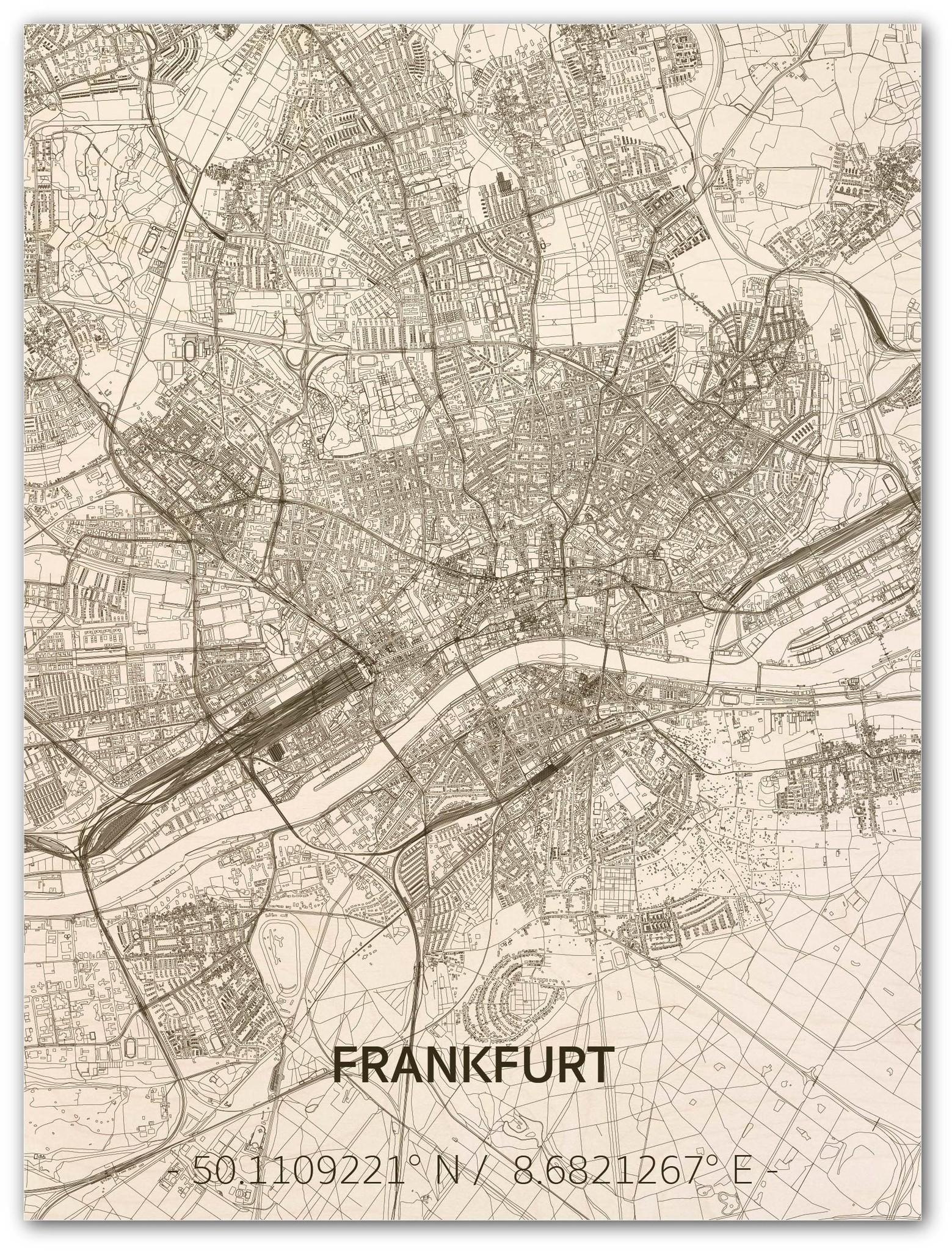 WOODEN WALL DECORATION FRANKFURT CITYMAP-1