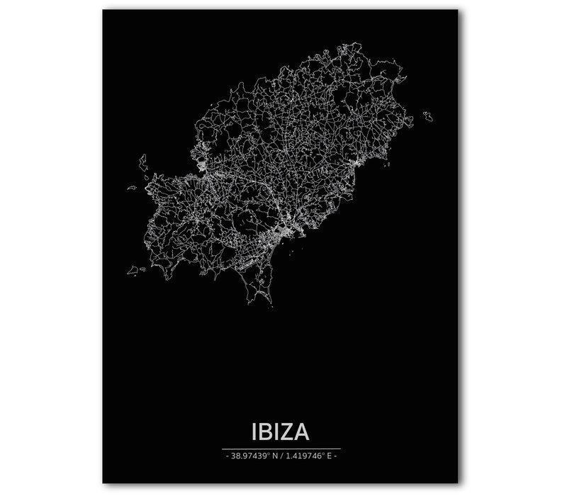 Citymap Ibiza | Aluminum wall decoration