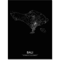 Citymap Bali | Aluminium wanddecoratie
