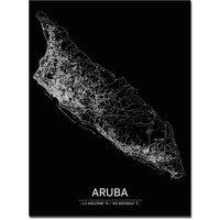 Citymap Aruba | Aluminum wall decoration