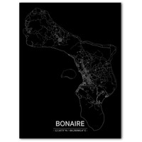 Citymap Bonaire | Aluminium wanddecoratie