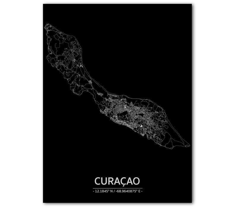 Citymap Curaçao | Aluminum wall decoration
