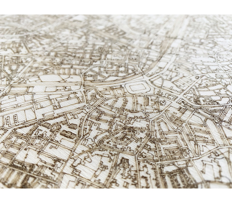 Stadtplan Sassenheim | Wanddekoration Holz