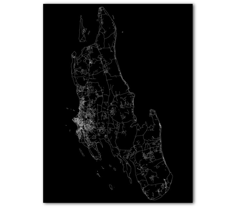 Citymap Zanzibar | Aluminum wall decoration