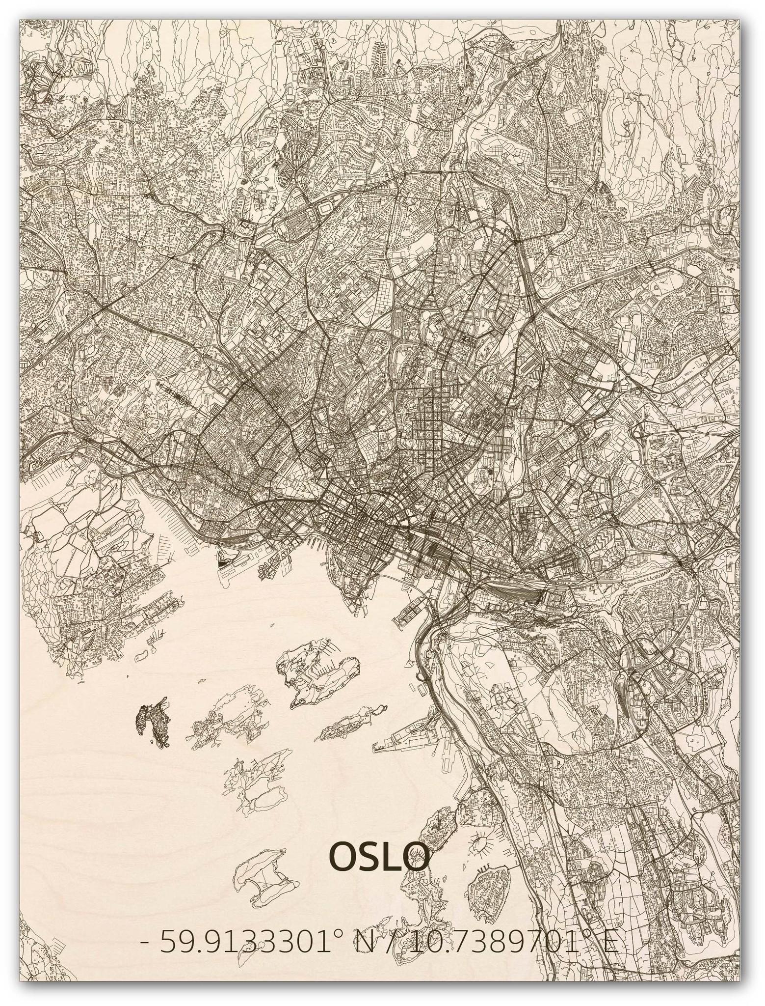 Citymap Oslo | wooden wall decoration-1