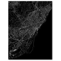 Citymap Barcelona   Aluminium wanddecoratie