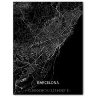 Citymap Barcelona | Aluminum wall decoration