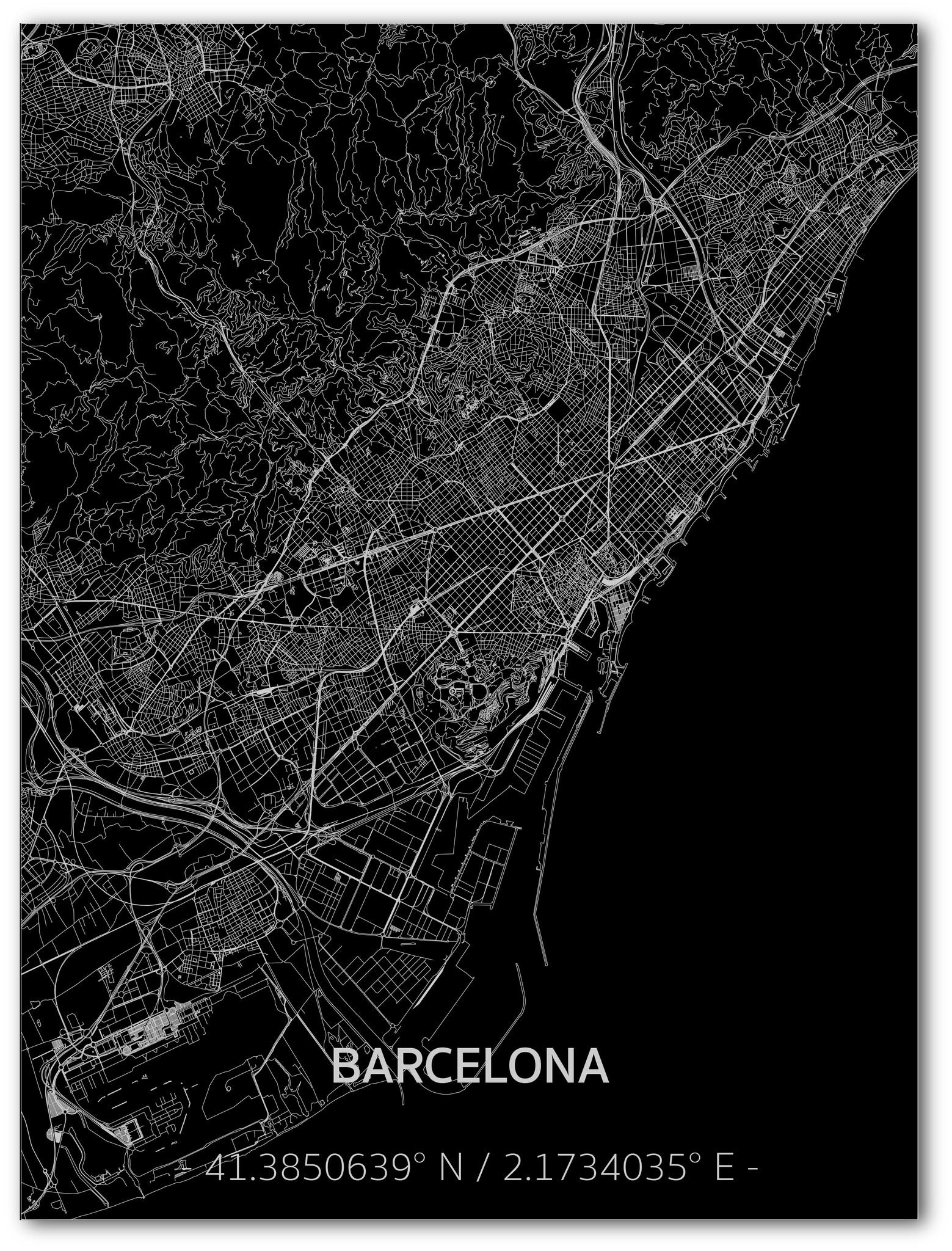 Citymap Barcelona | Aluminum wall decoration-1