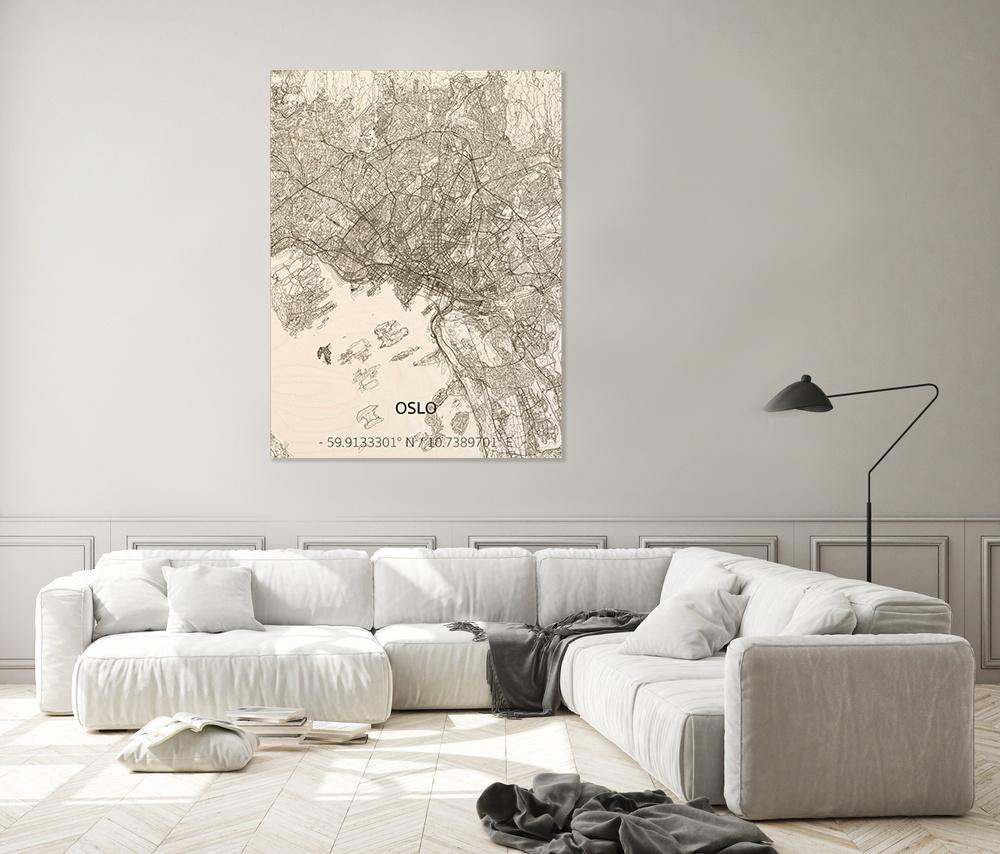 Citymap Oslo | wooden wall decoration-2