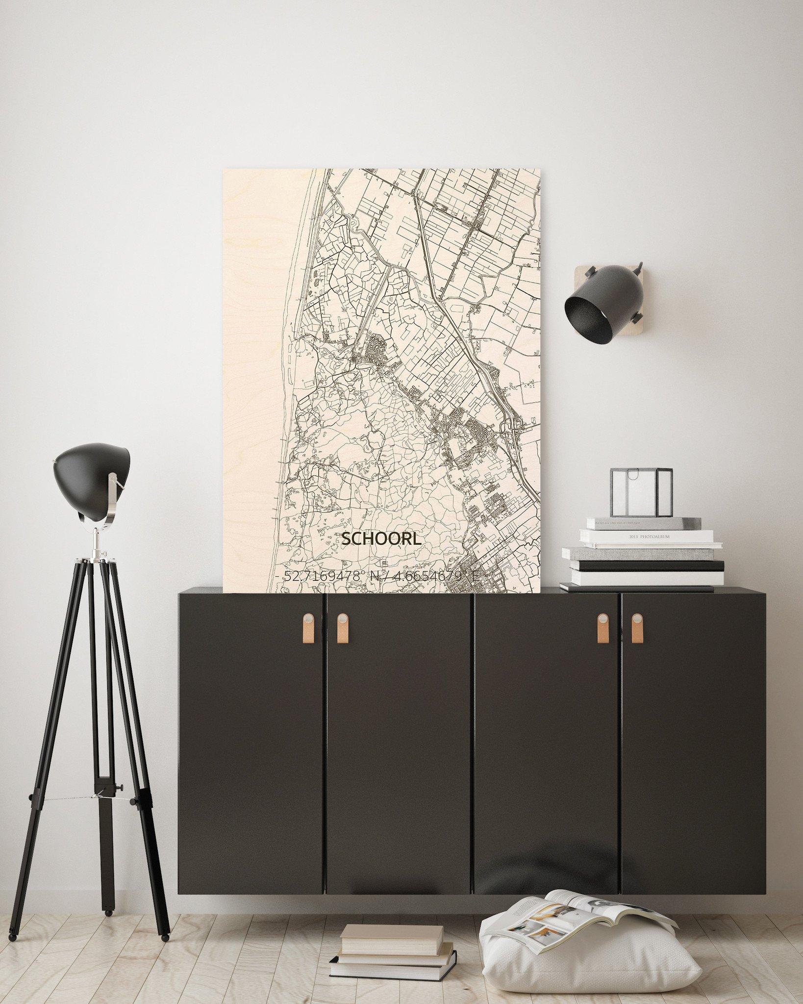 Citymap Schoorl | houten wanddecoratie-2