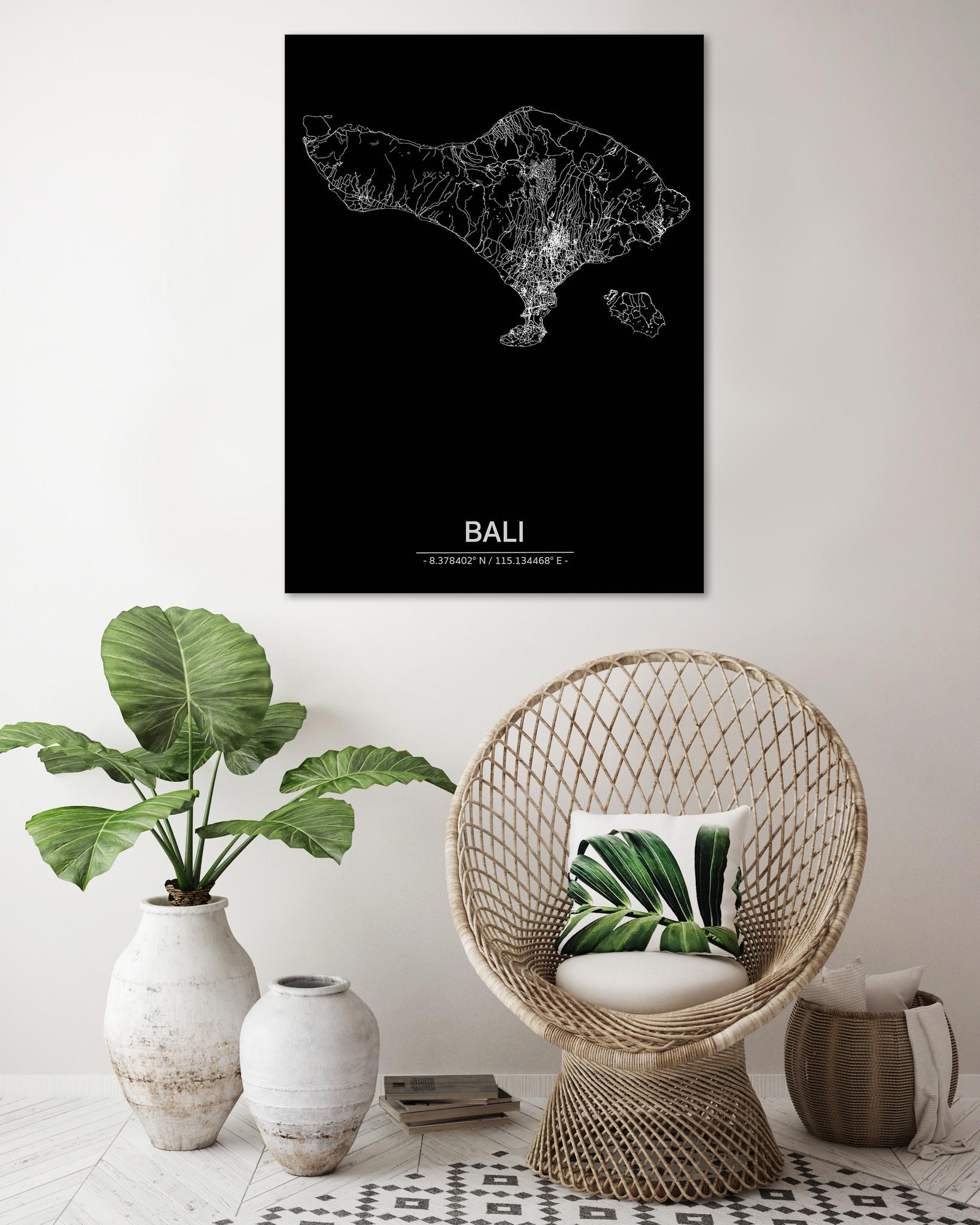 Citymap Bali | Aluminium wanddecoratie-2