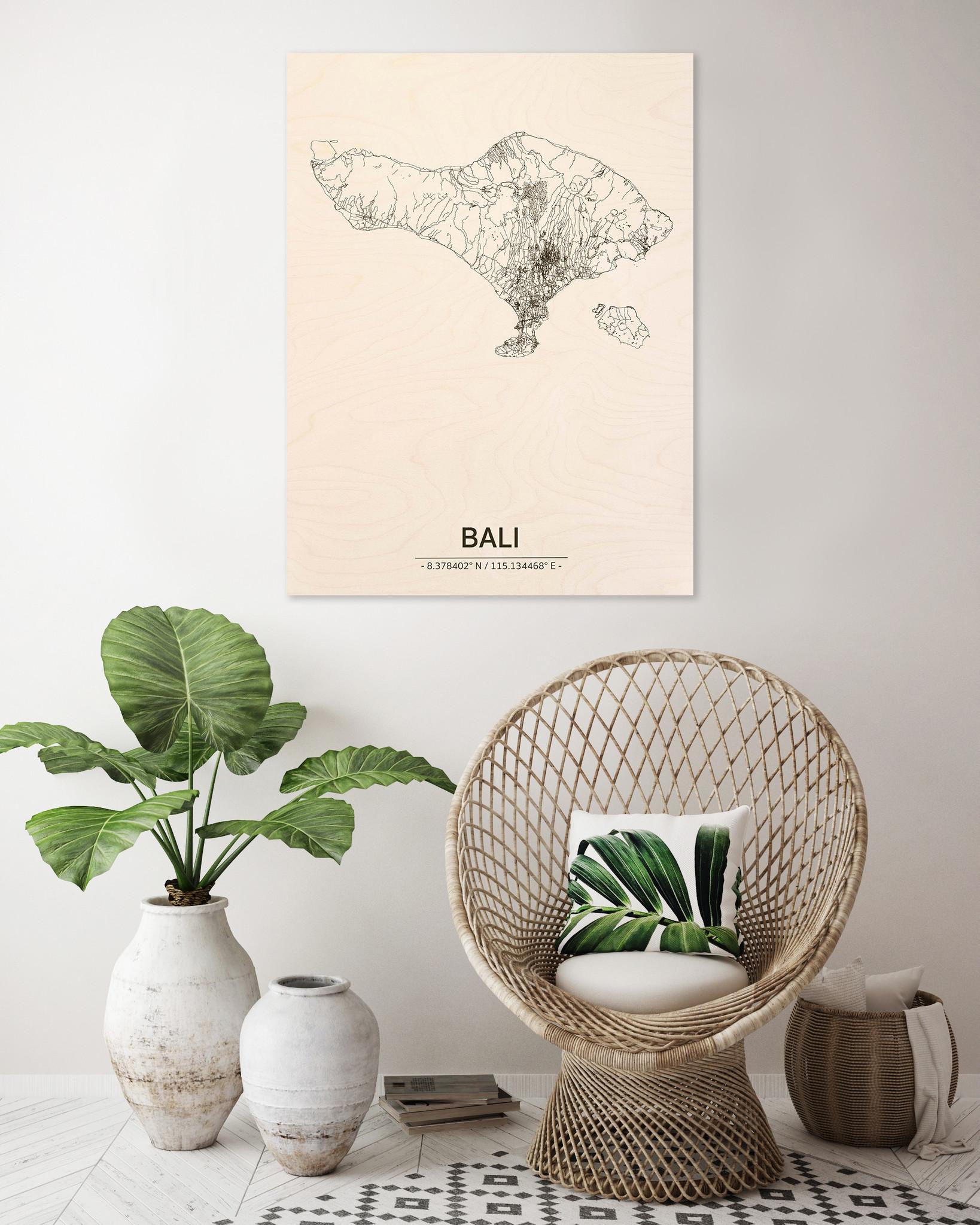Citymap Bali | wooden wall decoration-2