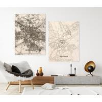 Stadtplan Tervuren   Wanddekoration Holz